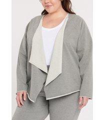 plus size forever comfort open front sweatshirt
