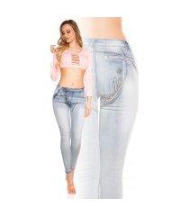 sexy skinny jeans met knopen goud