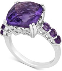 amethyst (6 ct. t.w.) cocktail ring in sterling silver