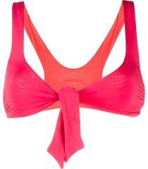 stella mccartney tie-front bikini top - pink