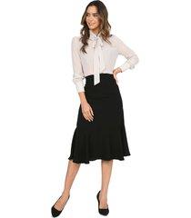 falda larga bolero color negro charby