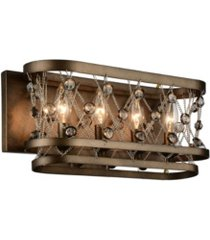 closeout! cwi lighting tieda 4 light wall sconce