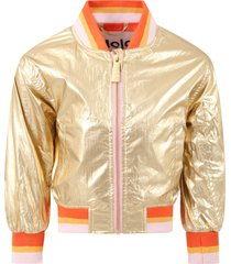 molo gold haliva jacket for girl