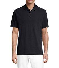 robert graham men's joyride polo t-shirt - black - size xl