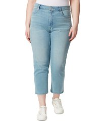 frayed trendy plus size ripped ankle jeans