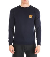 moschino crew neck neckline jumper sweater pullover teddy bear regular fit