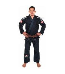 kimono jiu jitsu atama trançado mundial - preto