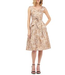 women's kay unger chloe birds of paradise fit & flare dress