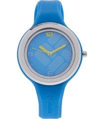 reloj azul agua marina-plateado columbia