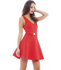 ax paris gold plated waist skater dress
