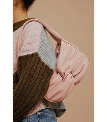 pink twist knot pu shoulder bag - pink