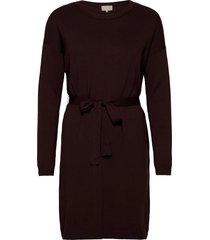 elne knit dress knälång klänning röd minus