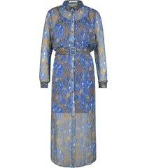 midi-jurk met ceintuur harper  paars