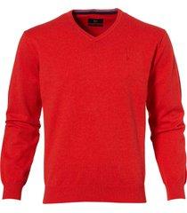 sale - jac hensen pullover - regular fit - rood