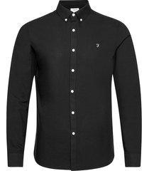 brewer long sleeved slim fit shirt overhemd casual zwart farah