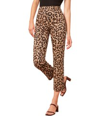women's reformation marlon pants, size 10 - brown