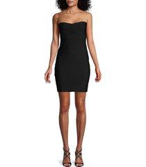 bebe women's classic strapless mini bandage dress - black - size xxs