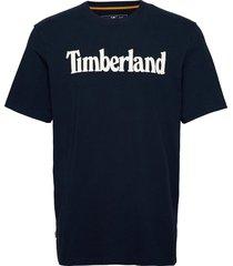 k-r brand linear t t-shirts short-sleeved blå timberland