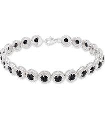 round black onyx (22 mm) bracelet in sterling silver