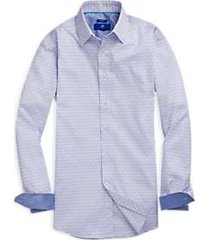 egara blue dobby geometric sport shirt