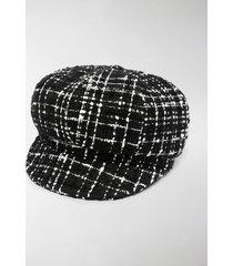 dolce & gabbana tweed baker boy hat