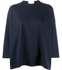 sofie d'hoore slouchy cotton tunic top - blue