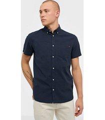 solid bill ss bd linnen shirt skjortor insignia blue