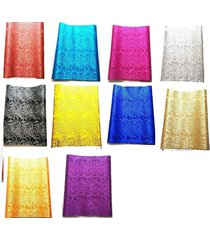 """1 pcs embroidered  african headtie sego gele 2.5 yards x 18"""" - choose color"""