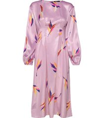 greta midi dress knälång klänning rosa gina tricot