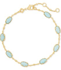 kendra scott gold-tone emilie stone link bracelet