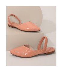 sapatilha em verniz feminina beira rio rosê