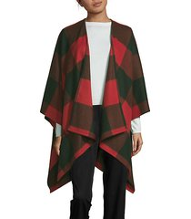 buffalo plaid wool cape