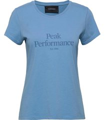 w original tee cold blush t-shirts & tops short-sleeved blå peak performance