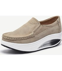 scarpe casual con suola rocker in pelle di grandi dimensioni