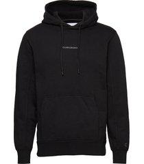 instit chest logo re hoodie svart calvin klein jeans