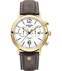 roamer men's chronograph 42 mm dress watch in steel case on strap