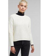 sweater de punto grueso blanco esprit