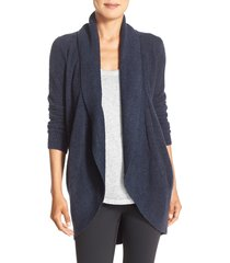 women's barefoot dreams cozychic(tm) lite circle cardigan, size medium - blue