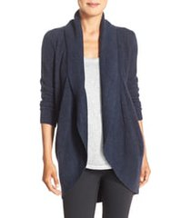 women's barefoot dreams cozychic lite circle cardigan, size large/x-large - blue