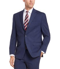 izod men's classic-fit medium blue solid suit jacket