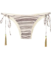 track & field basic striped bikini bottom - white