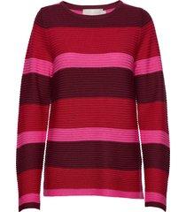 pullover-knit light stickad tröja röd brandtex