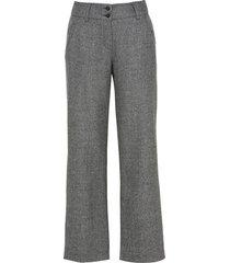 wollen broek, zilver/zwart 38