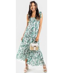 caitlyn tropical floral dress - ivory