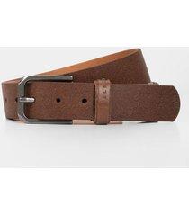 cinturón unifaz de cuero para hombre vintage