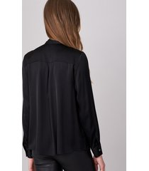 zijden blouse met strik aan de hals
