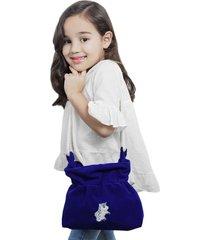bolsa infantil ania store unicórnio azul