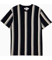 mens navy and tan stripe t-shirt