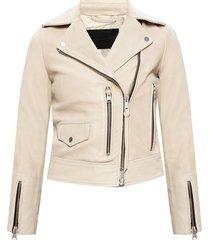 'kara' leather biker jacket