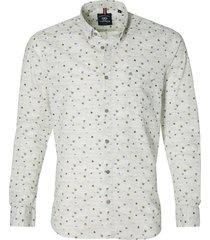 lerros overhemd - regular fit - grijs